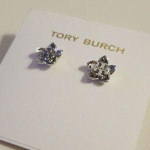 Tory Burch cecily silver earrings